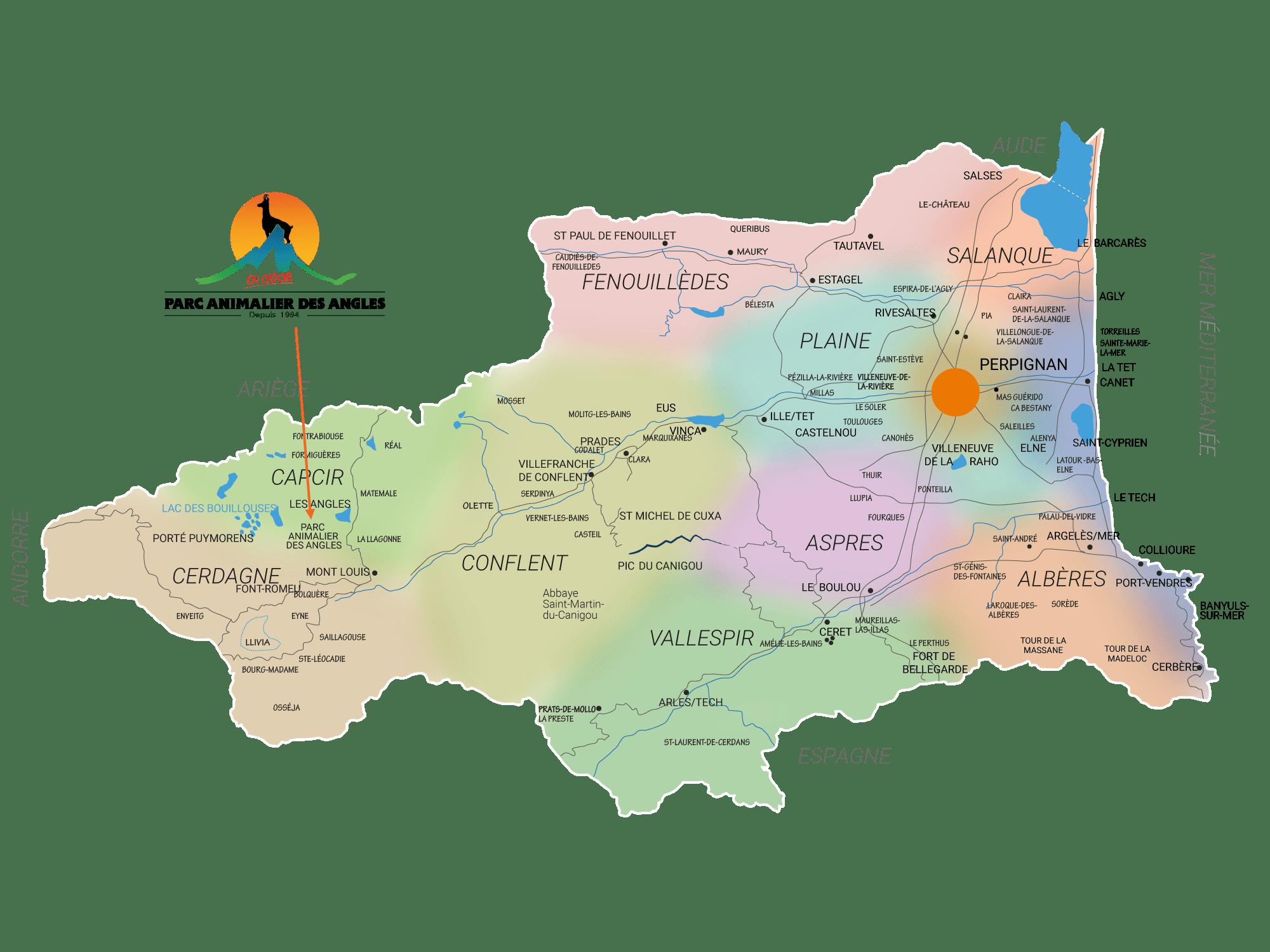 carte pyrénées orientales tourisme balade detente