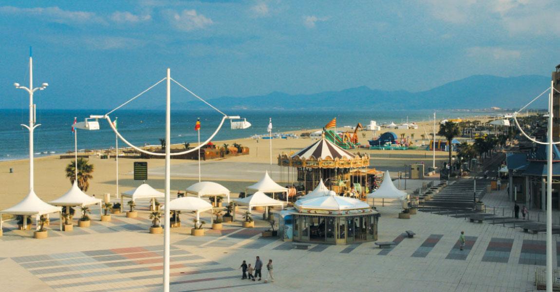cote catalane peche bateau sable plage plongee port tourisme canet