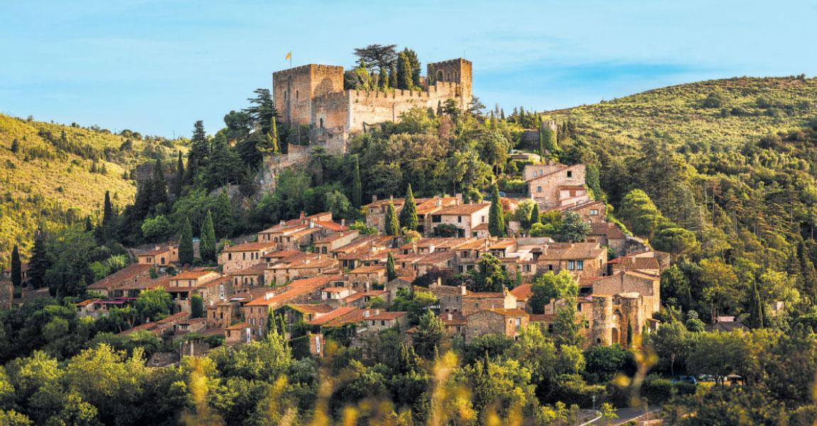 tourisme escalade balade arriere pays aspres castelnou médieval chateau