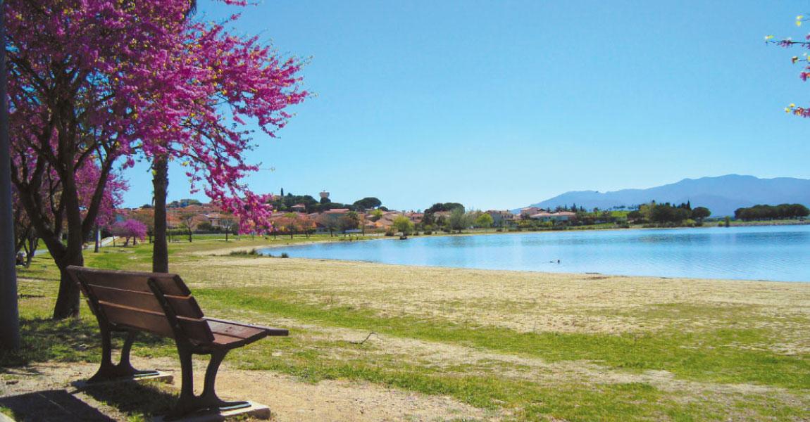 tourisme balade arriere pays plaine villeneuve de la raho lac detente